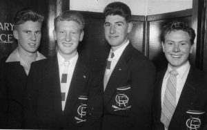 1955 (L-R) Stuart and Bruce Evans Graeme Coates Mick Allen