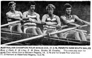 1976 Aust Champ coxless four